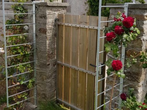 Arche support rosier acier galva Plougonvelin