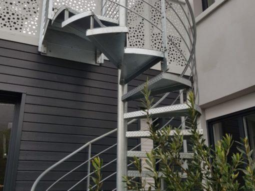 Escalier helicoïdal en galva