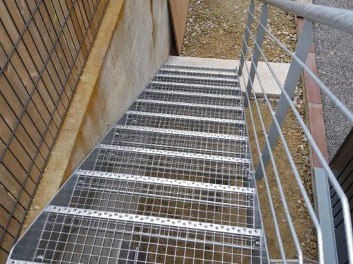Escalier métallique extérieur Plougonvelin (2)