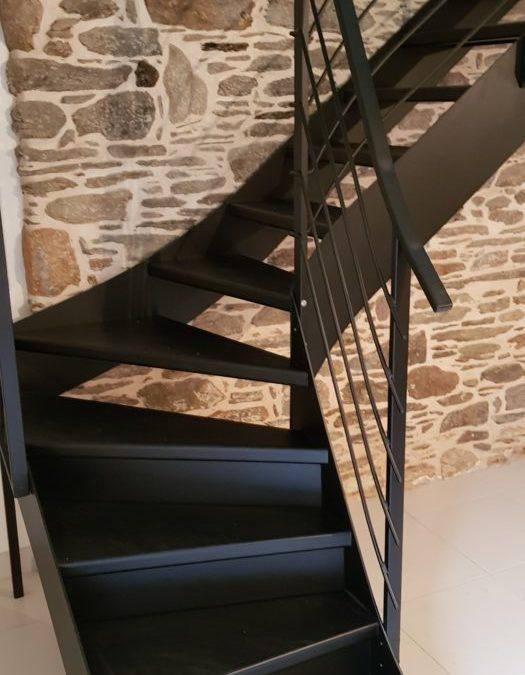 Escalier métallique intérieur Le Conquet