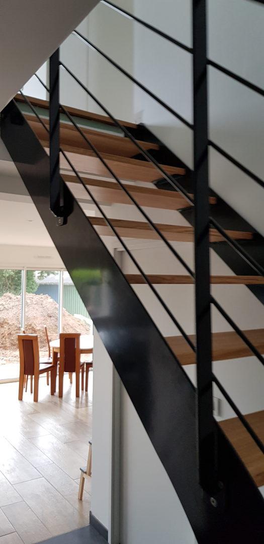 Escalier mixte métal bois Locmaria-Plouzané