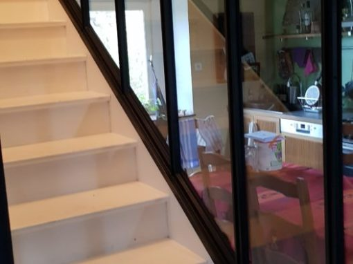 Verrière escalier acier Plougonvelin